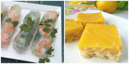 Gluten Free Summer Rolls + Mango Lemon Bars