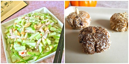 Asian Cucumber Salad + Pumpkin Bites (gluten-free)