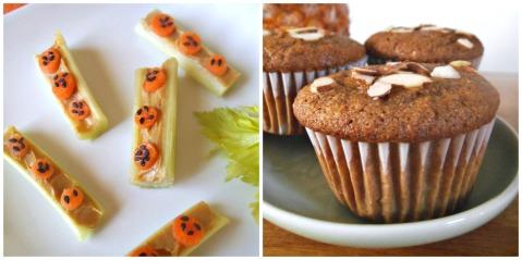 Celery Sticks + Gluten Free Pineapple Muffin