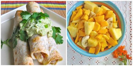 Taquito + Fruit Collage