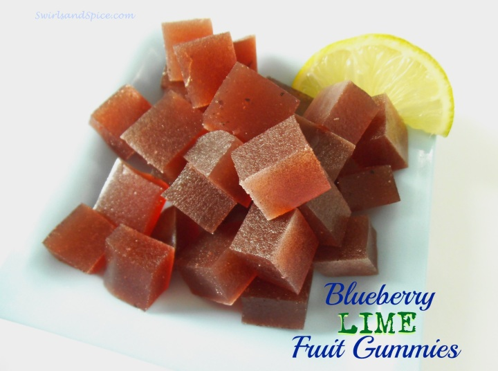 Blueberry Lime Fruit Gummies {Paleo-Friendly}