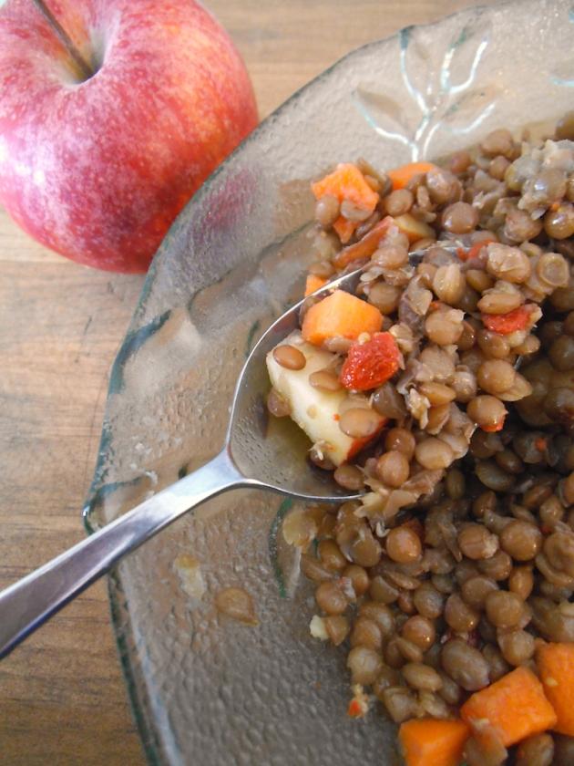 Harvest Lentil Salad with Goji Berry Vinaigrette