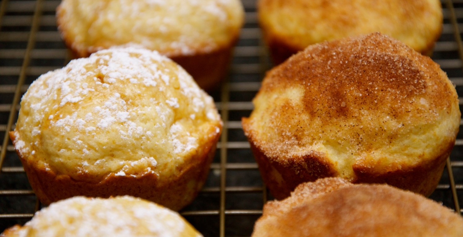 French Toast Muffins with Two Toppings