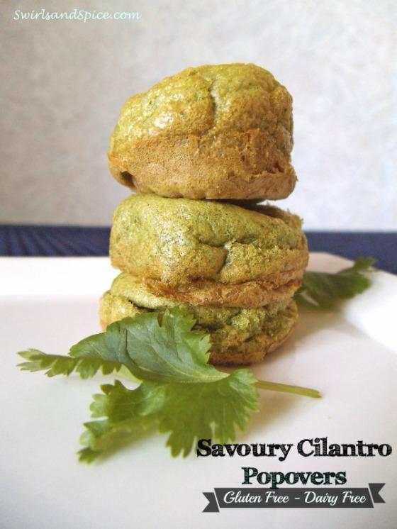 Cilantro Popovers - Gluten free and Dairy free