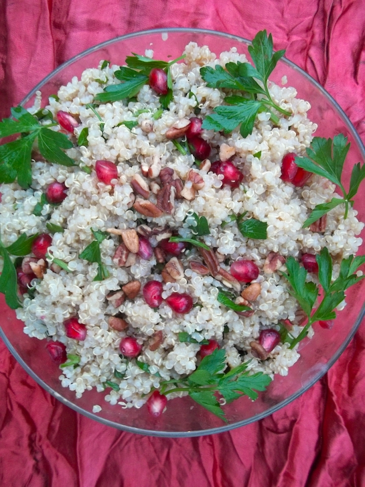Pomegranate Quinoa Salad with Citrus Dressing | Swirls and Spice