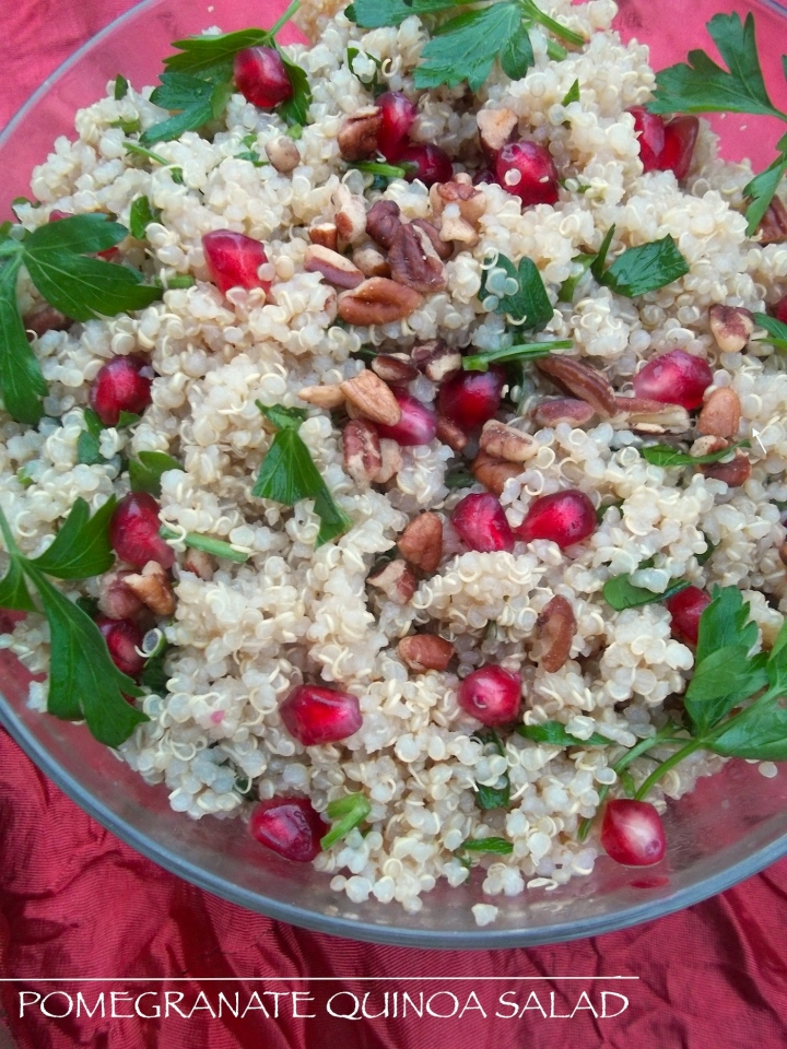 Pomegranante Quinoa Salad with Citrus Dressing