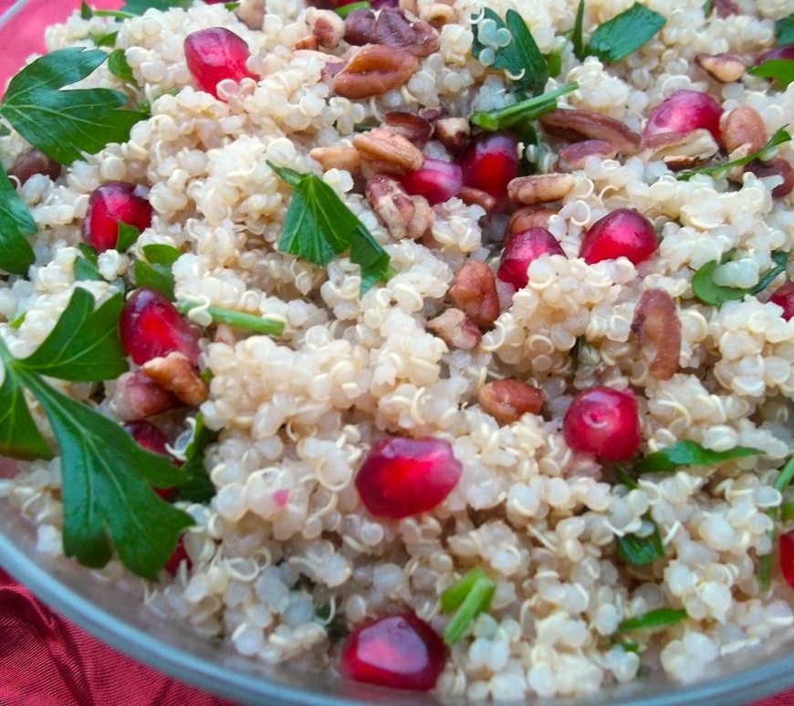 Pomegranate Quinoa Salad with Citrus Dressing