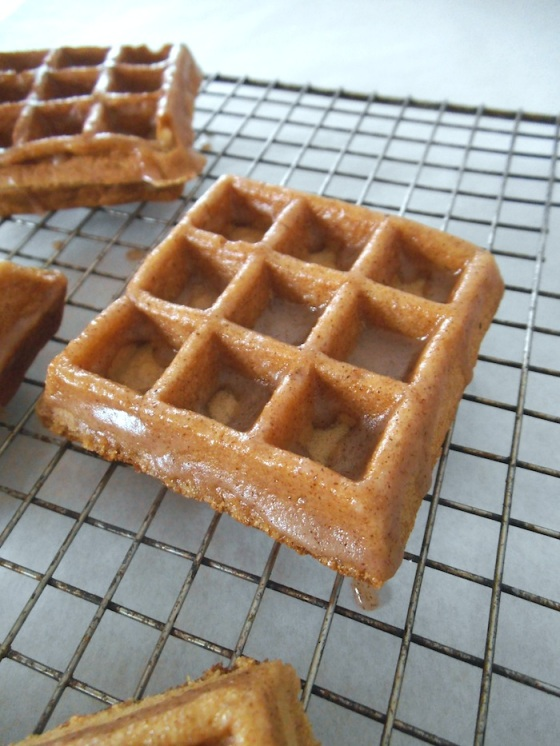 Apple Cider Waffles with Cinnamon Glaze