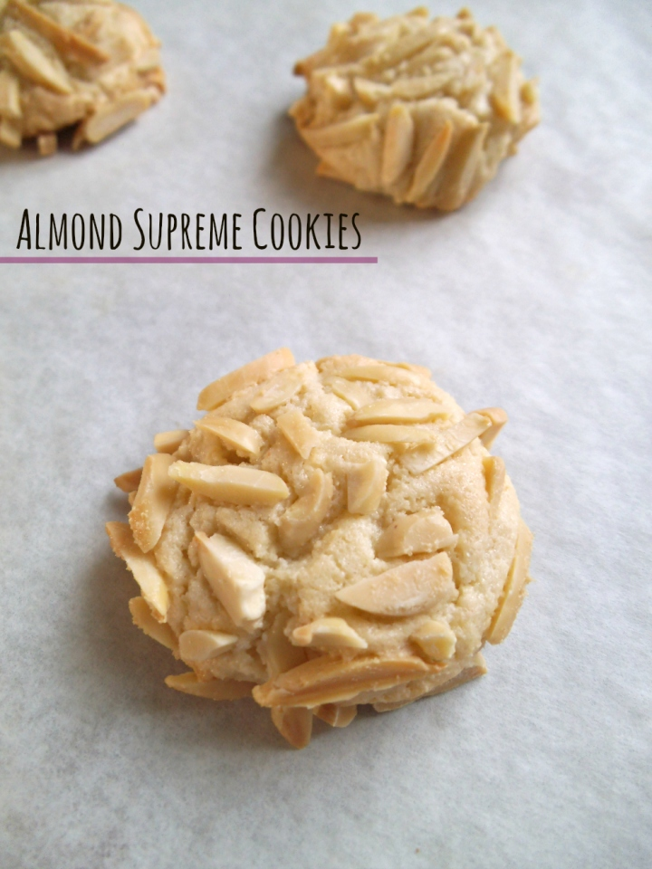 Almond Supreme Cookies | Swirls and Spice