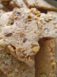 Pistachio Almond Cookie Brittle