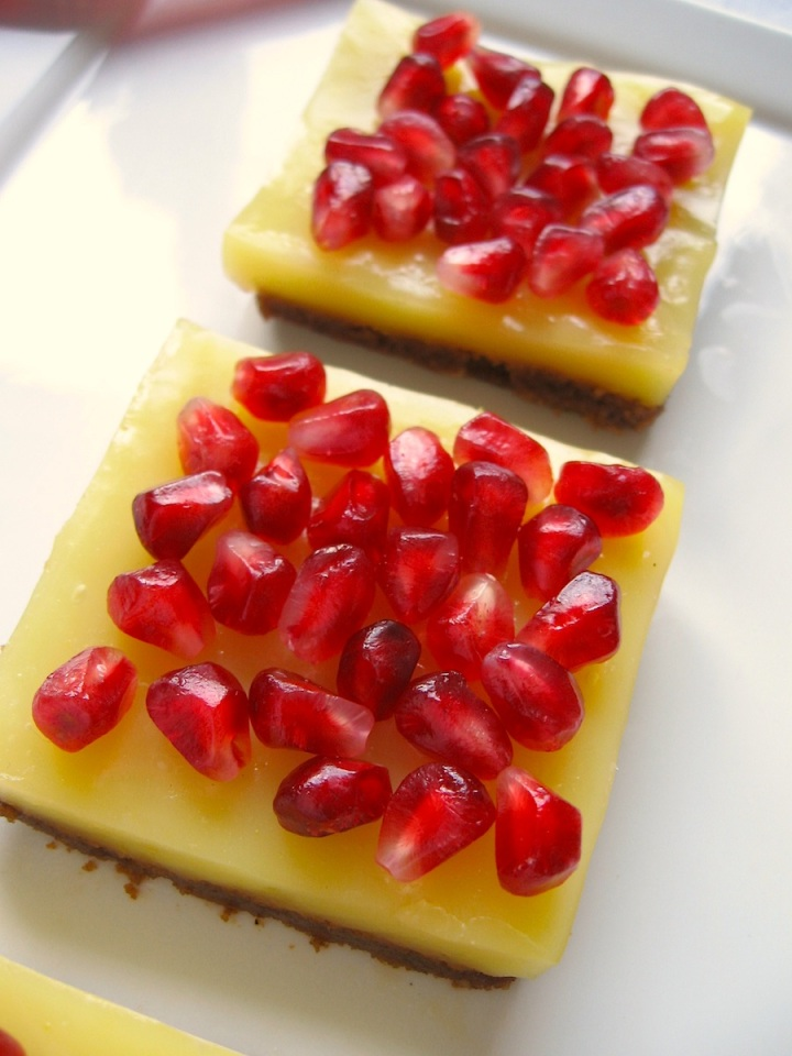 Pomegranate Orange Bars {Gluten Free}