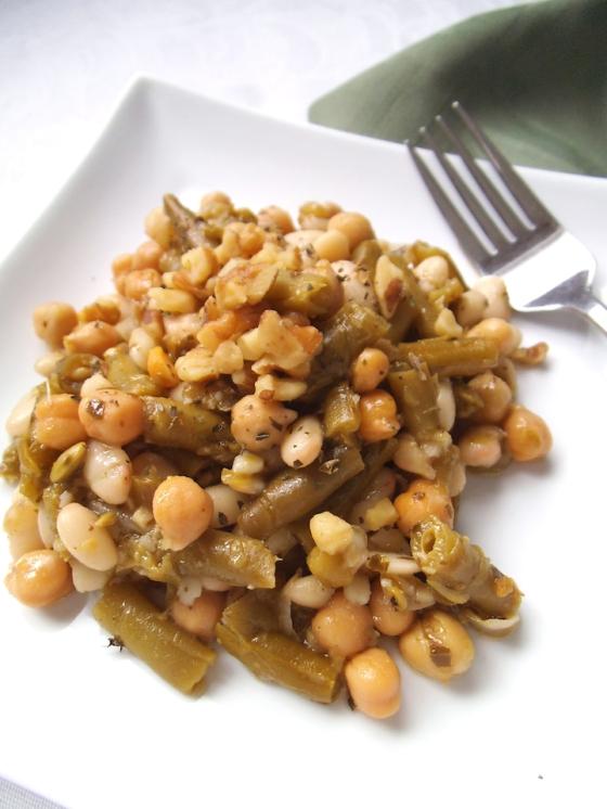 Pesto-Dressed Three Bean Salad