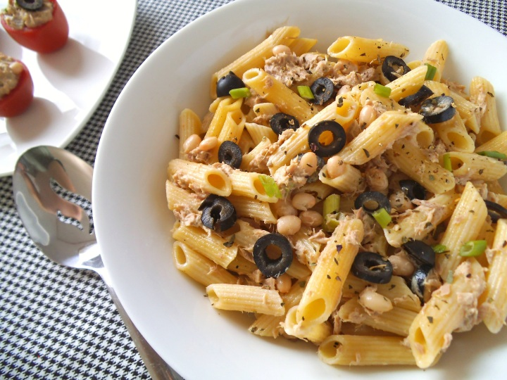 Tuna and White Bean Pasta Salad | Swirls and Spice