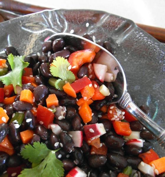Sesame Black Bean Salad | Swirls and Spice