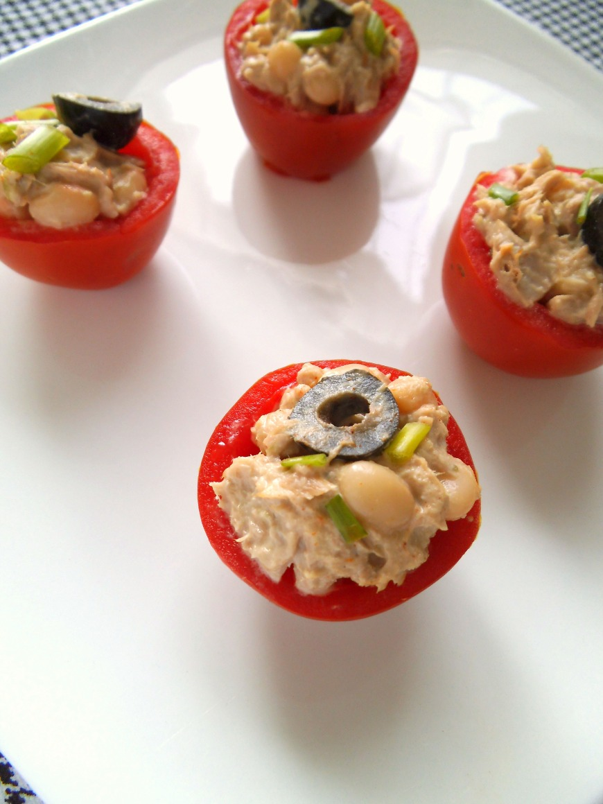 Tuna and White Bean Salad Stuffed Tomatoes
