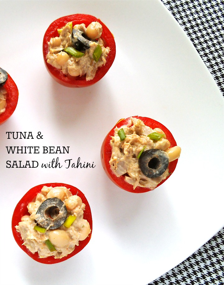 Tuna and White Bean Salad with Tahini | Swirls and Spice