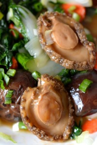 Braised Abalone and Shiitake Mushrooms over Bok Choy | by the Piquey Eater