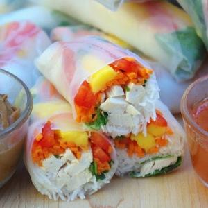 Vietnamese Chicken Salad Rolls | by Within the Kitchen