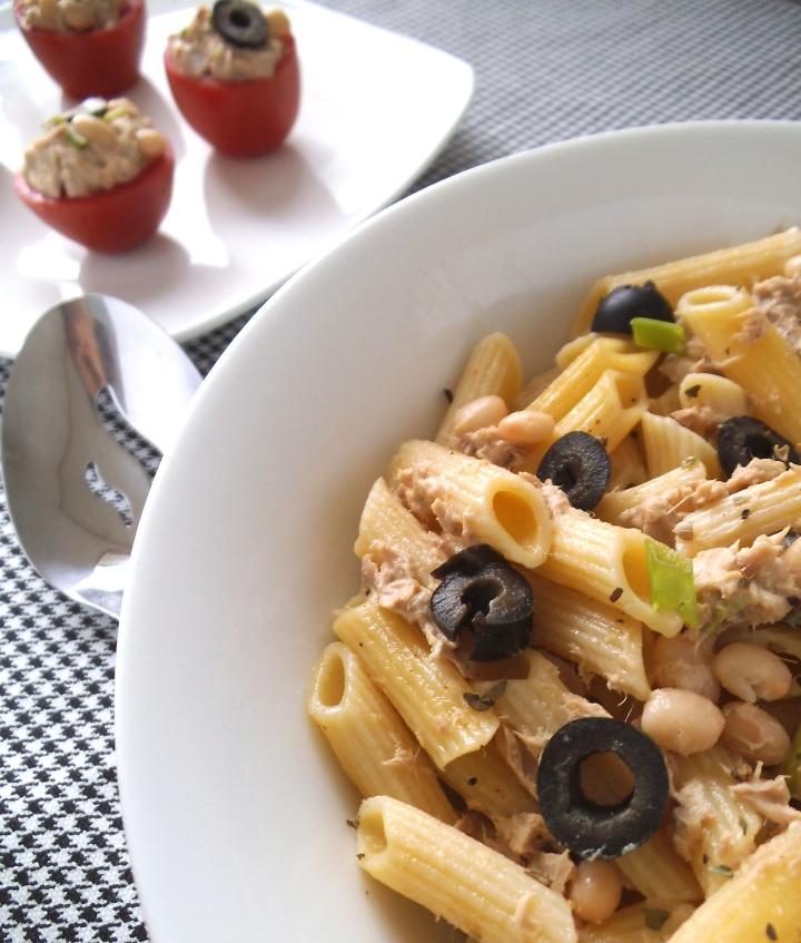 Tuna and White Bean Salad with Tahini | Swirls and Spice