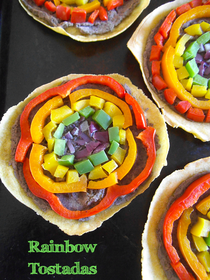 Rainbow Tostadas | Swirls and Spice