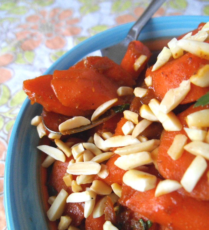 Moroccan Carrots with Apricots and Almonds | Swirls and Spice
