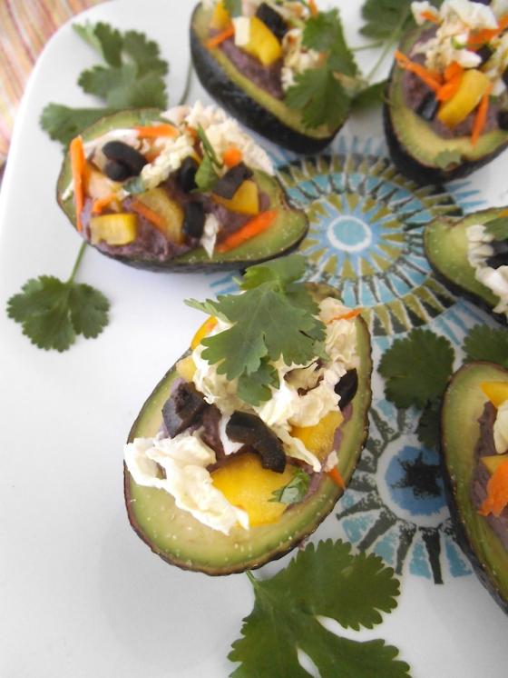 Black Bean Stuffed Avocados {with Vegan Option} | Swirls and Spice
