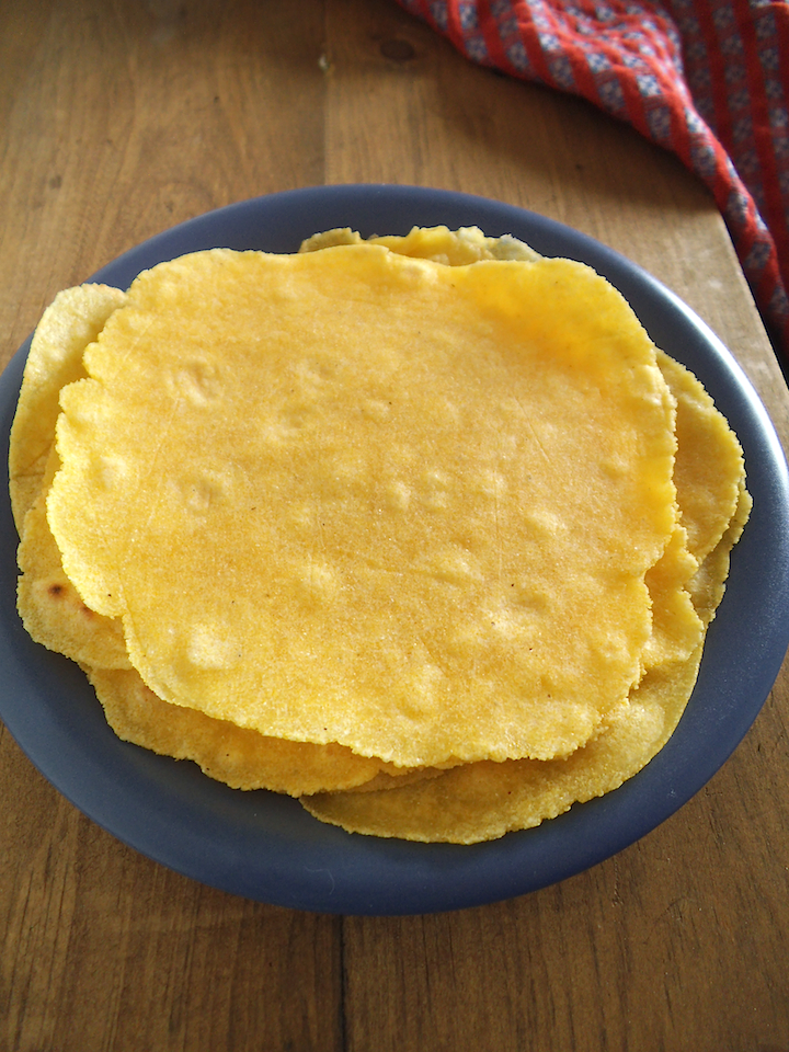 Fresh Cornmeal Tortillas | Swirls and Spice