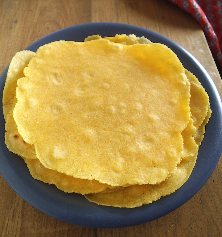 Fresh Cornmeal Tortillas | Swirls and Spice