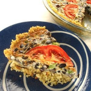 Mexican Frittata with Millet Crust | Swirls and Spice