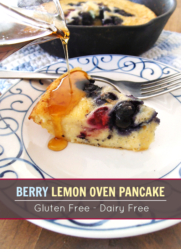 Berry Lemon Oven Pancake | Swirls and Spice