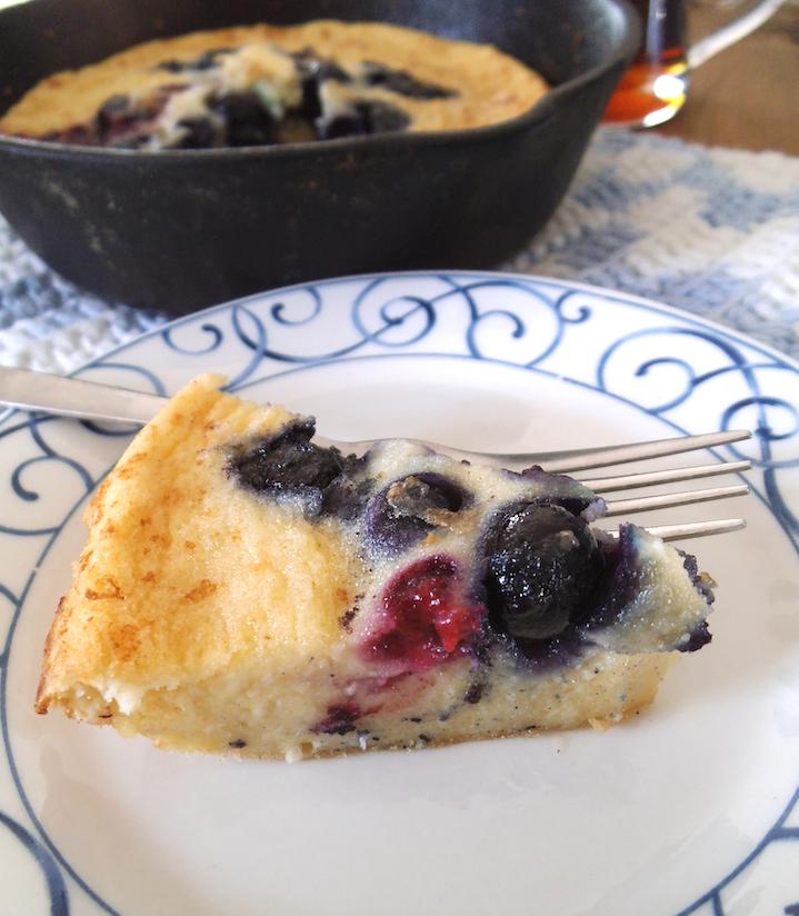 Berry Lemon Oven Pancake | Swirls and Spice