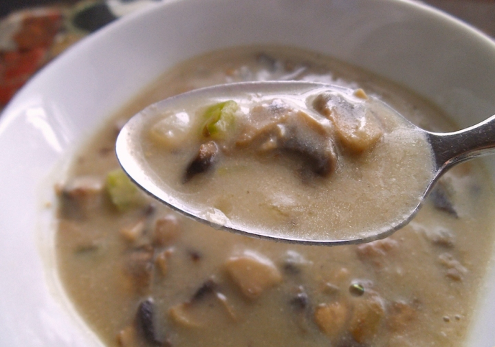 Creamy Mushroom Soup with Cashew Milk | Swirls and Spice