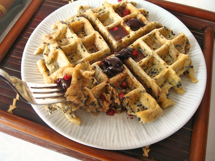 Wild Rice Waffles with Pecans (GF) | Swirls and Spice