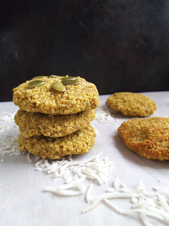 Banana Coconut Spice Cookies with Turmeric {4-ingredient recipe} | Swirls and Spice