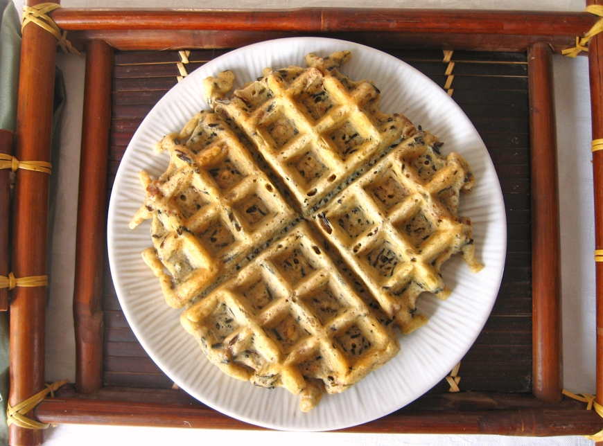 Wild Rice Waffles with Pecans (GF)   Swirls and Spice