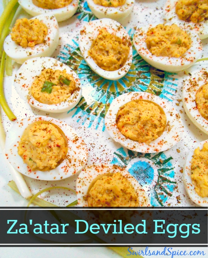 Za'atar Deviled Eggs | Swirls and Spice