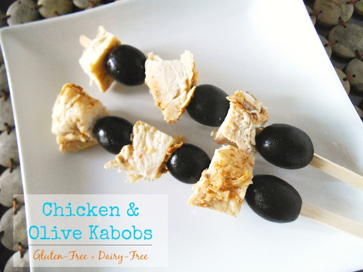 Chicken and Olive Kabobs | Swirls and Spice