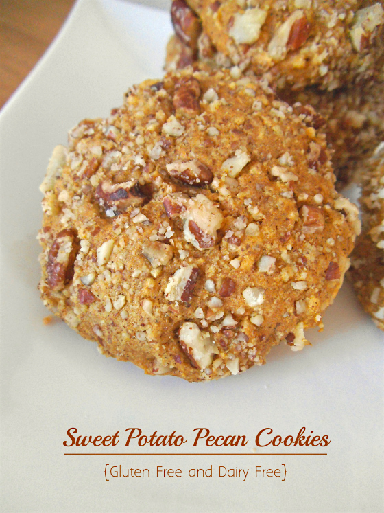 Pecan Spice Cookies with Sweet Potato   Swirls and Spice