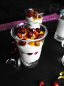 Pomegranate Pudding Parfait Shots