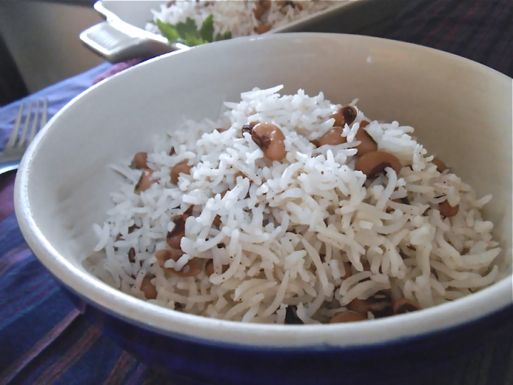 Black-Eyed Pea Rice Pilaf with Cardamom| Swirls and Spice