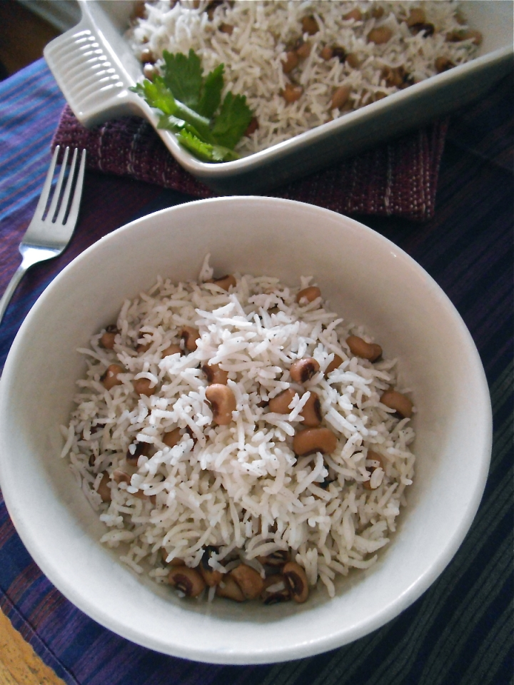 Black-Eyed Pea Rice Pilaf with Cardamom