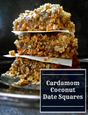 Cardamom Coconut Date Squares | Swirls and Spice