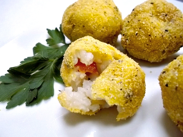Arancini with Yellow Split Lentils | Swirls and Spice