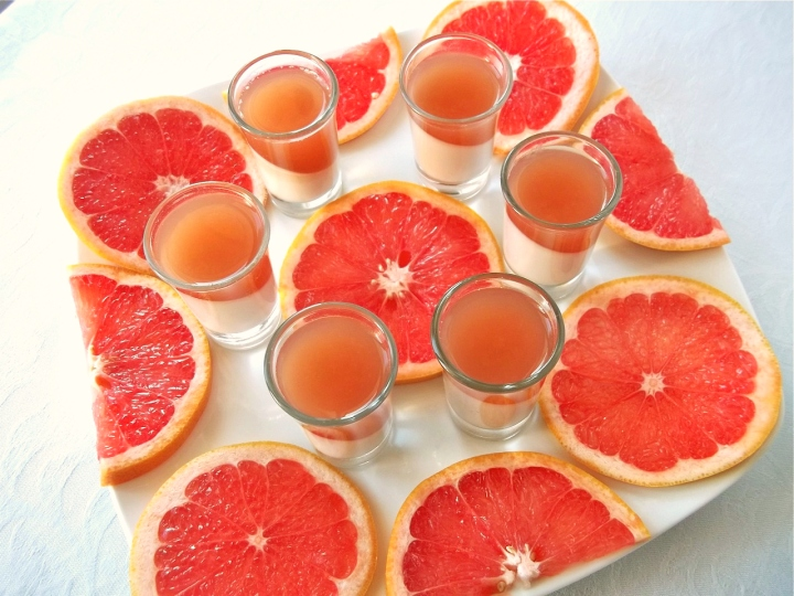 Grapefruit Gelatin Panna Cotta Cups | Swirls and Spice