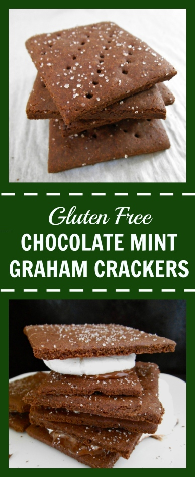 Chocolate Mint Graham Crackers | Swirls and Spice | #glutenfree