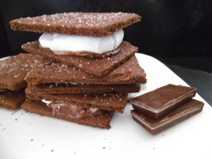 Gluten Free Chocolate Mint S'mores | Swirls and Spice