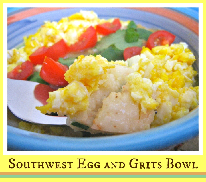 Southwest Egg and Grits Bowl | Swirls and Spice #glutenfree