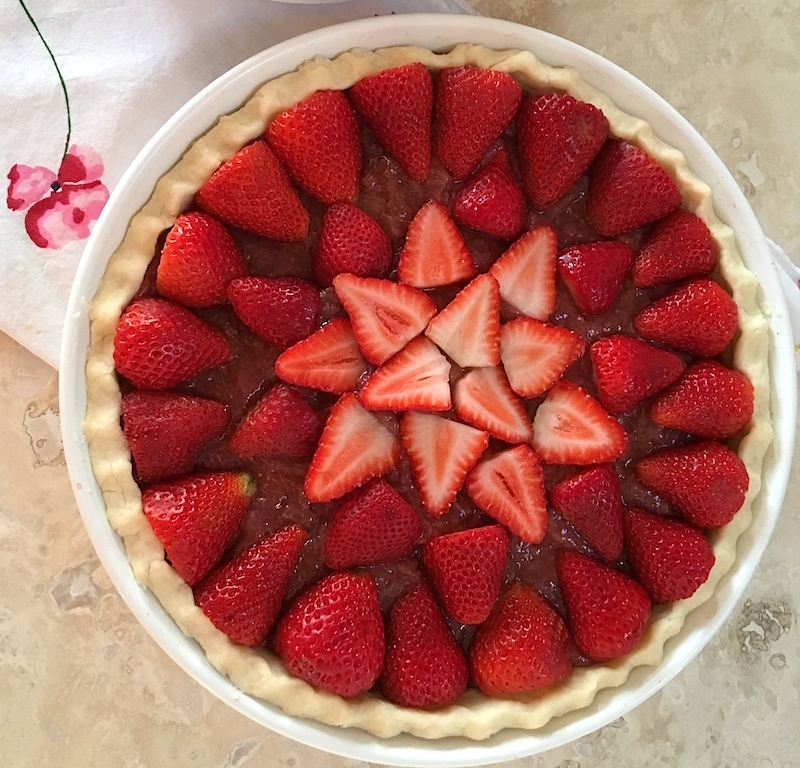 Strawberry Rhubarb Tart {Gluten Free Option} | Swirls and Spice