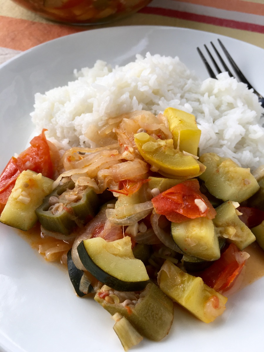 One-Pot Ratatouille with Summer Squash and Okra