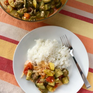One-Pot Ratatouille with Summer Squash | Swirls and Spice